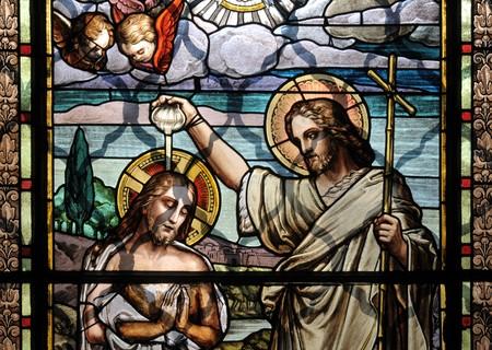 Bautismo de Cristo Jes�s por San Juan Bautista  Foto de archivo - 7713670