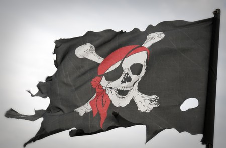Piraten-flag Standard-Bild - 7948513