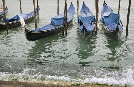 moored: Moored gondolas