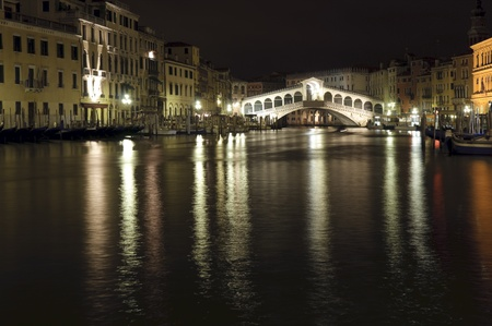 Venice: Canal Grande by night photo