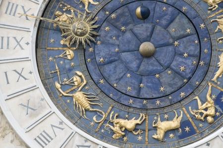 Zodiacal wall clock photo