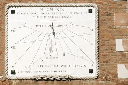 Old sundial photo