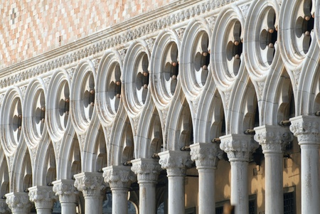 doge's palace: Italy, Venice: Doges palace facade Stock Photo