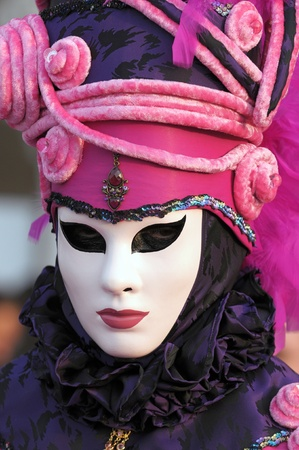 Venice carnival mask, unrecognizable person Stock Photo - 12342309