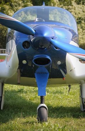 airplane ultralight: Propeller plane detail