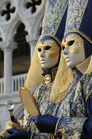 gaiety: Venice Carnival masks Stock Photo