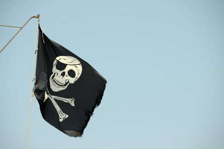 pirate flag: Pirate flag Stock Photo