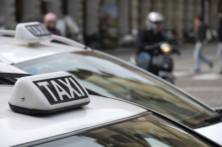 Taxi sign Stock Photo - 12632846