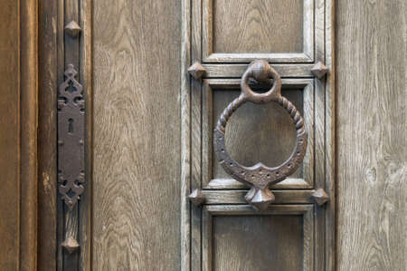 door handles: Old door knob and lock Stock Photo