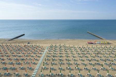 Part of a beach along North Adriatic italian coastline