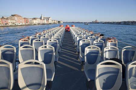 waterbus: Venice, Italy  Giudecca Canal view from a cruising vaporetto Editorial
