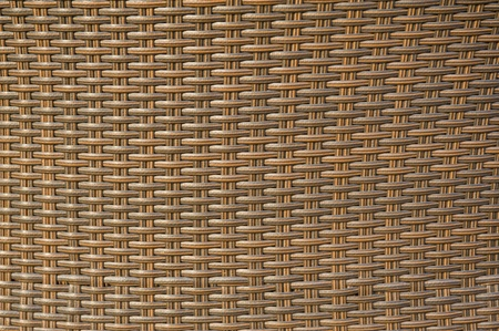 Back of a wicker-like chair