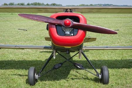 forepart: Vintage prop plane Stock Photo