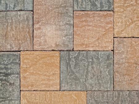 Garden path bricks photo