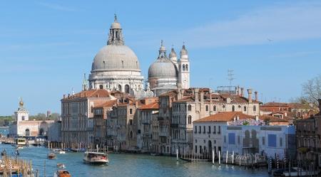 Venice  Santa Maria della Salute church along Grand Canal photo