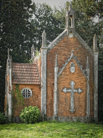 unearthly: Gothic style chapel