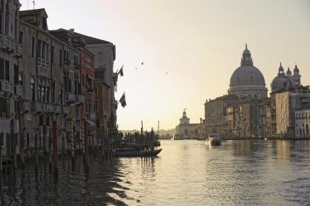 Venice  Sunrise along Canal Grande Stock Photo - 14204736
