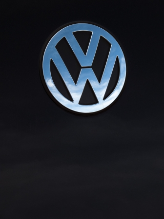 Padua, Italy - September 2, 2012: Volkswagen metallic logo on a Beetle tailgate. Volkswagen is a German, world famous, motor vehicles manufacturer brand. Shot in a public parking in Padua, Italy. Stock Photo - 16463219