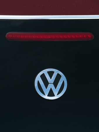 Padua, Italy - September 2, 2012: Volkswagen metallic logo on a Beetle tailgate. Volkswagen is a German, world famous, motor vehicles manufacturer brand. Shot in a public parking in Padua, Italy. Stock Photo - 16463222