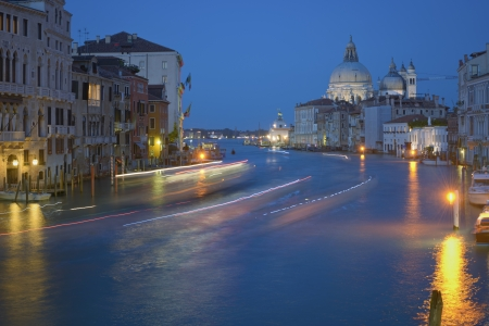 Venice by night  Grand Canal photo