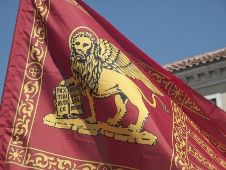 leon con alas: San Marcos de Venecia público bandera bandera