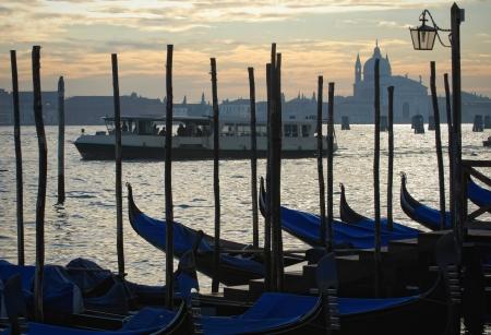 Venice, Italy - Vaporetto at sunset photo