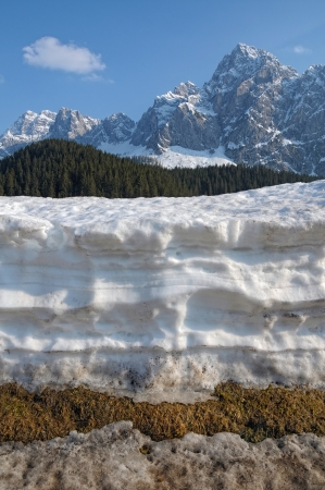 stratified: Snow layers on Alps