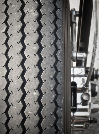 Motorcycle tire detail Stock Photo - 17281984