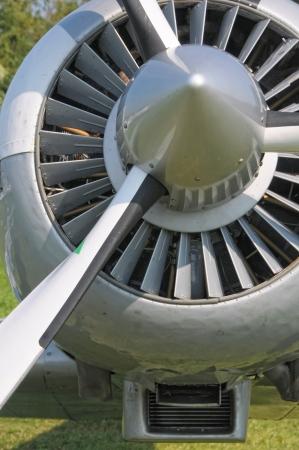 turbofan: Avi�n detalle prop Foto de archivo