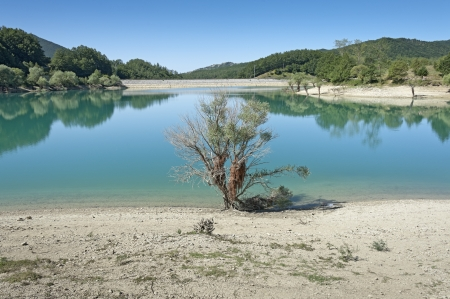apennines: Little lake on Apennines in Molise region, Italy