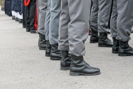 military training: Military parade