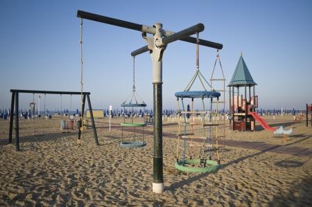 Playground equipment on the beach photo