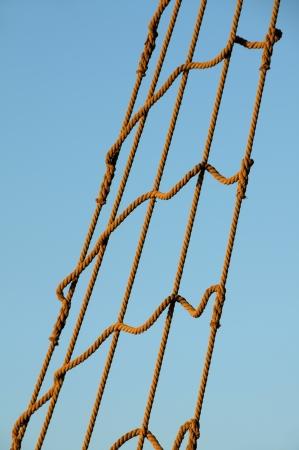 rope ladder: Rope ladder on sky