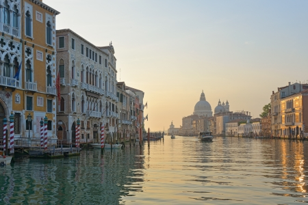 Venice  Early morning along Grand Canal photo
