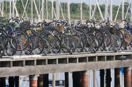 'cycles: Bicycles rack full of cycles