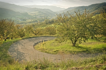 apennines: Autumnal landscape on Italian Apennines