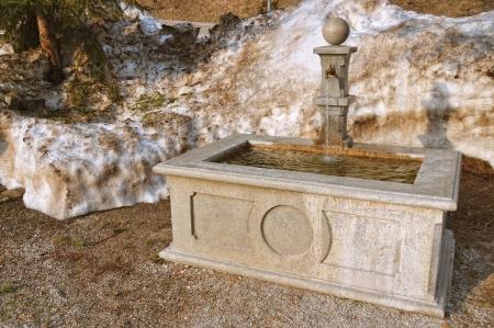 fount: Stone fountain