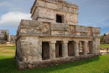 En ruines maya Tulum Mexique  Banque d'images - 3072991
