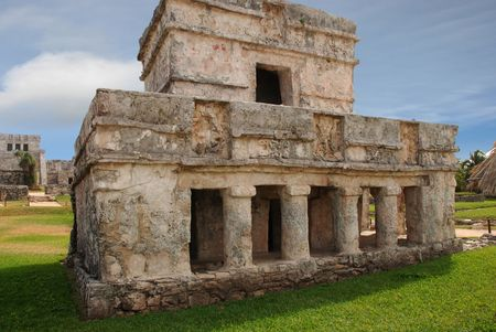 old ruin: Mayan Ruins in Tulum Mexico