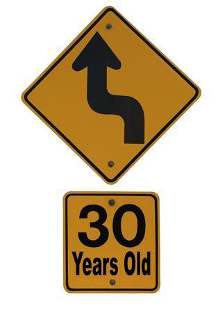 Thirty is Just Around the Corner Stock Photo