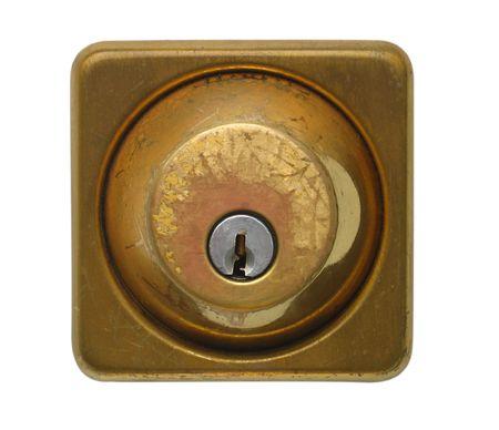 Isolated Weathered Door Lock