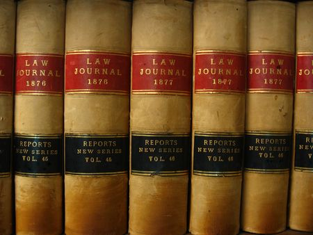 Row of Antique Canadian Law Books
