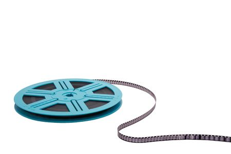 Old Fashioned Film Reel Isolated on White