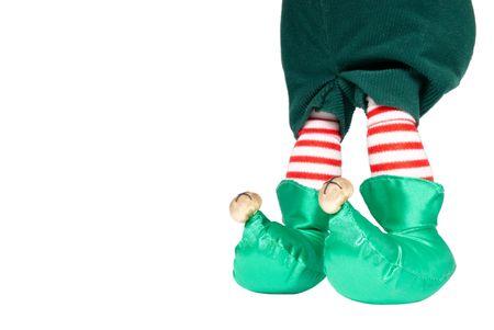 Elf Feet Isolated on White