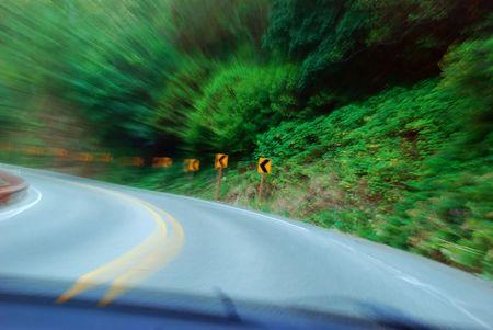 High Speed Corner Stock Photo