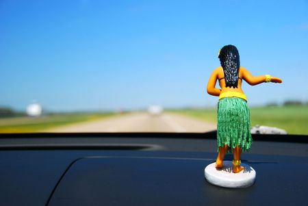 dash: Dashboard Hula Girl Stock Photo