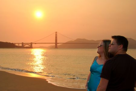 Man & Woman in San Francisco