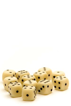 copy space: Ivory Dice with Copy Space Stock Photo