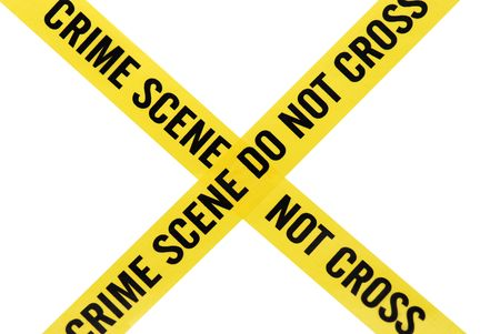 scene of a crime: Crime Scene Tape with Clipping Path