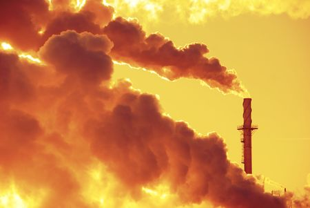 Global Warming Pollution Stock Photo